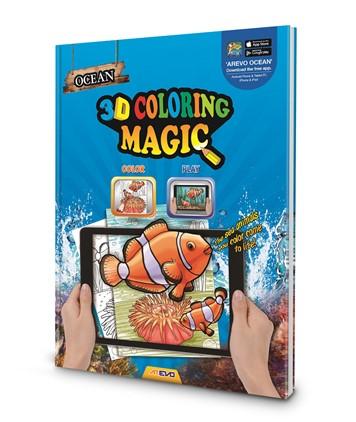 Ocean 3D Magic Coloring Book