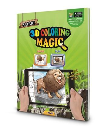 Safari 3D Magic Coloring Book